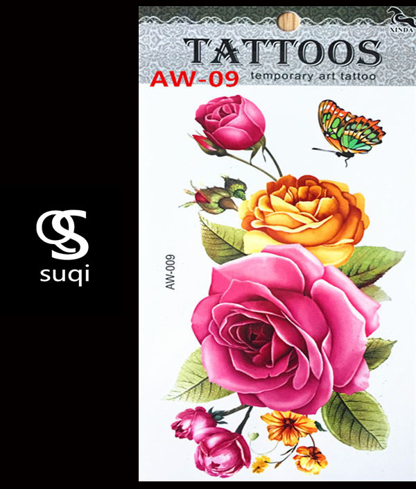 3d Temporary Tattoo Tattoo Flash Flash Light Rose Color Tattoo On The Body Of The Female Body Art Tattoo Stickers Aw 09 Tattoo Tattoo 3d Temporary Tattootemporary Tattoo Aliexpress