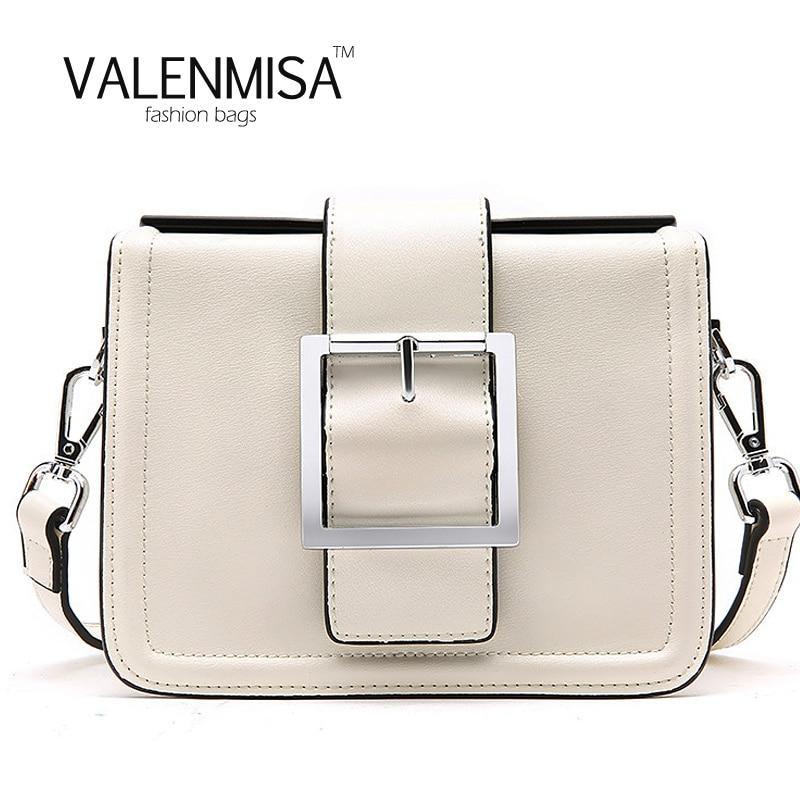 VALENMISA Cute Bags For Women 2018 Genuine Leather Messenger Bag Designer Brand Women Leather Handbags Simple Women Shoulder Bag цена и фото