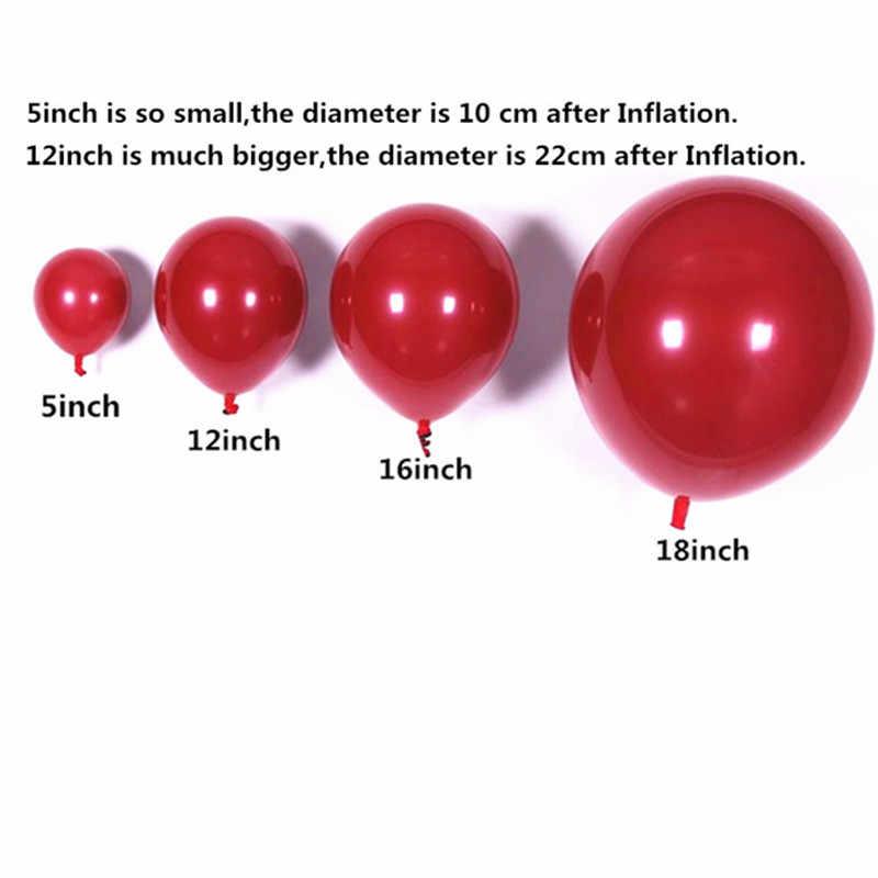 5 шт. 12 дюймов Макарон оформление латексными воздушными шариками Anniversaire мальчик воздушные шары для дня рождения воздушные шары золото серебро с новым годом баллон