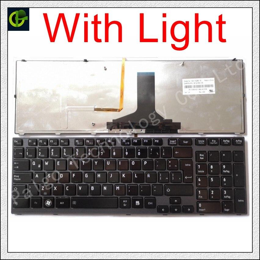 Espagnol Rétro-Éclairé Clavier pour TOSHIBA Satellite P750 P755 A660 A600 A600D A665 P750D P755D pour Qosmio X770 X775 SP Latine LA