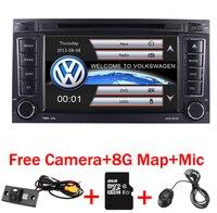 2 din 7 дюймов АВТОМОБИЛЬ DVD VW Touareg Multivan T5 (2002 2010) gps 3g Bluetooth Радио RDS USB рулевое колесо Canbus Бесплатная 8 г MAP Камера