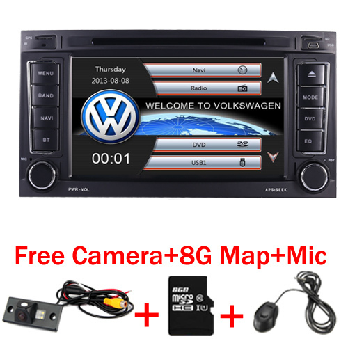 """7"""" Touch Screen Car Radio for  VW Touareg DVD GPS (2002-2010)Bluetooth Radio RDS USB IPOD TV Steering wheel Canbus Free camera"""