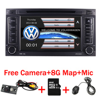 2 din 7 inch Car DVD VW Touareg Multivan T5 (2002 2010) GPS 3G Bluetooth Radio RDS USB Steering wheel Canbus Free 8G MAP Camera