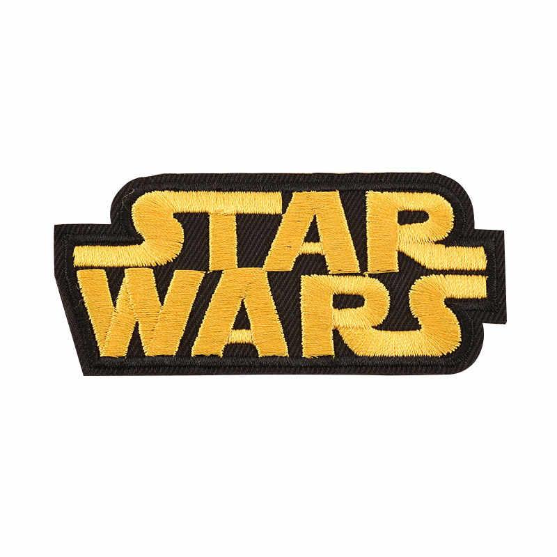 Новые нашивки с героями мультфильмов «Звездные войны», «йода Штурмовик BB8», «робот», оптовая продажа, нашивки с железной вышивкой, одежда для мальчиков и девочек