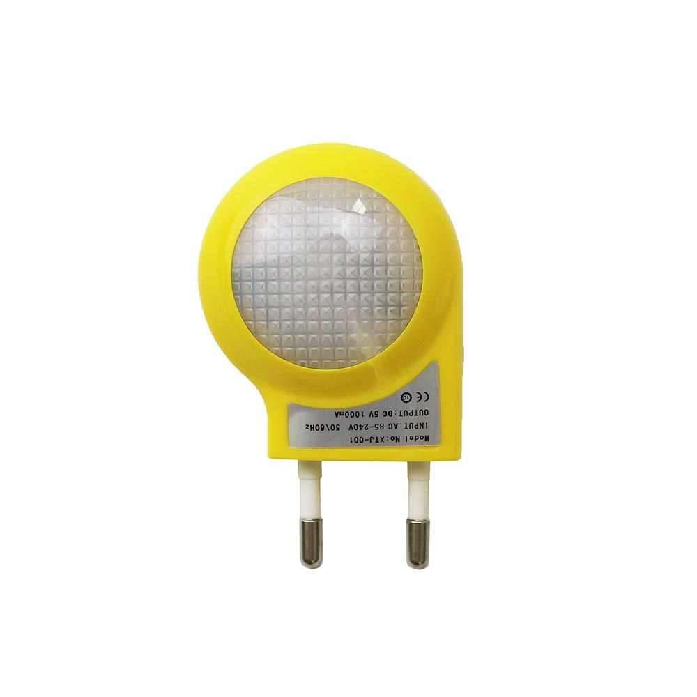 Мини светодиодный ночник AC110V/220 V 0,7 W СИД освещения авто Сенсор смарт-лампа в детскую спальню Цвет: белый, черный, голубой желтый штепсельная вилка европейского стандарта ночной Светильник