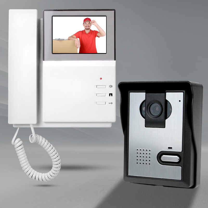 4,3 ''цветной видеодомофон дверной звонок камера с ИК COMS ночного видения проводной видео телефон монитор для системы входа горячая распродажа