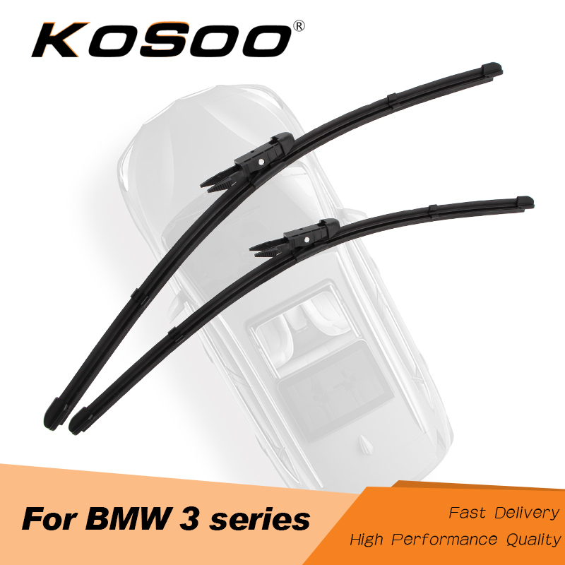 KOSOO For <font><b>BMW</b></font> 3 Series E36 E46 E90 E91 E92 E93 <font><b>F30</b></font> F31 F34 Car <font><b>Wiper</b></font> Blade Fit Hook/Side Pin/Pinch Tab Arms Auto Accessories image