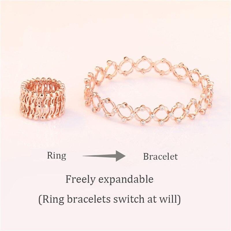 2019 nouvelle variété bracelet anneau magique pour envoyer petite amie tempérament anneau mode bracelet libre de changer en gros