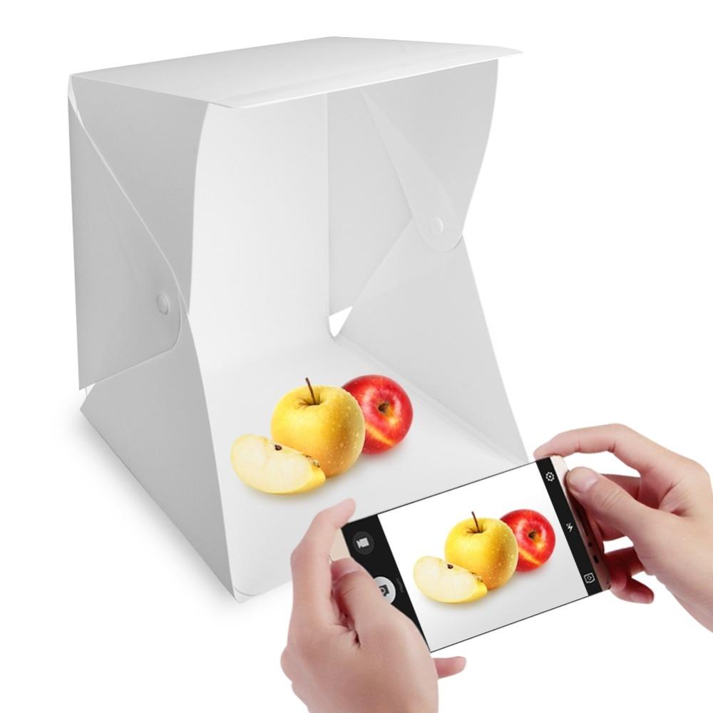 Mini Portable Folding lightbox Photography Photo Studio box with LED Lighting Kit Light box for Digital DSLR Camera