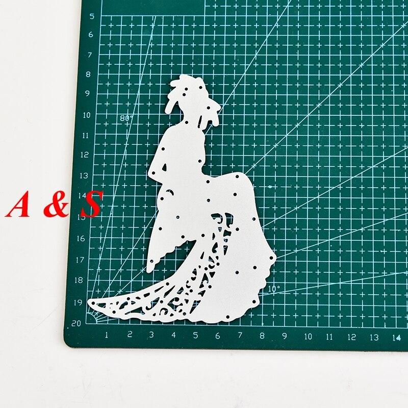 M55 Beautiful Woman Designs Metal Cutting Dies Stencils Scrapbooking/Photo Album DIY Embossing Decorative Accessories