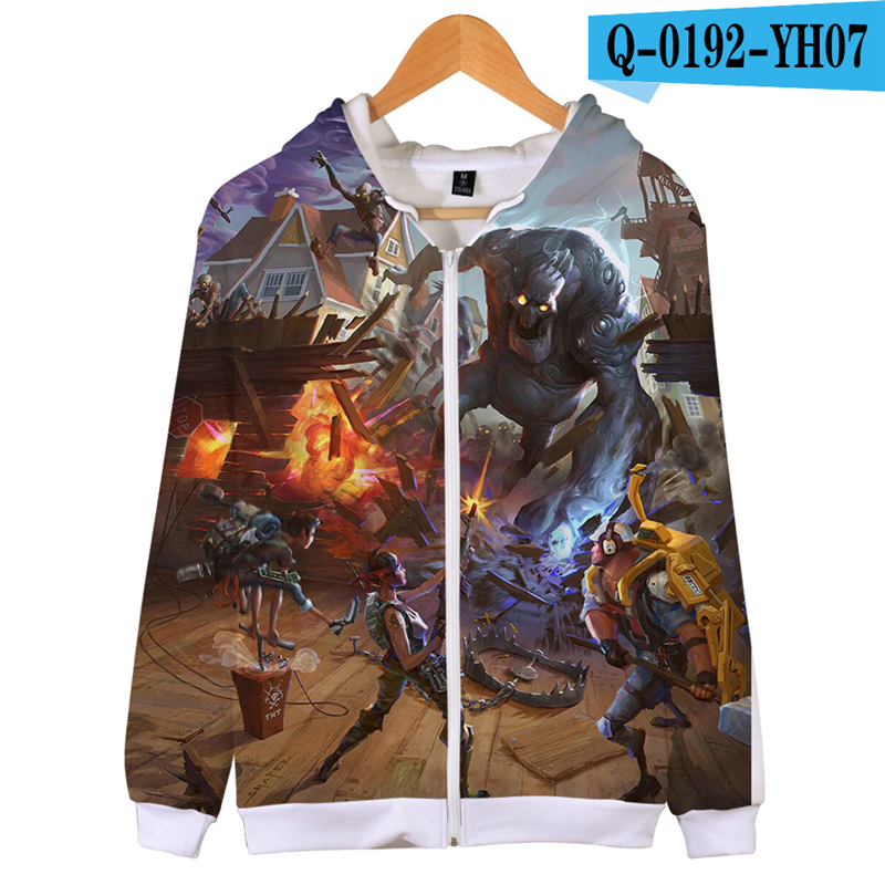 Fortniter Battle Royale Hoodie Print Sweatshirt Fornit Women Clothes Zipper Game Clothes Popular Clothing Women Clothing Zip Up
