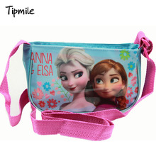Froze Cartoon Girl Baby Bag Messenger Bag Cartoon Bolsas Character Printing Zipper Kids Bag Kindergarten Girls 2016 New Arrival
