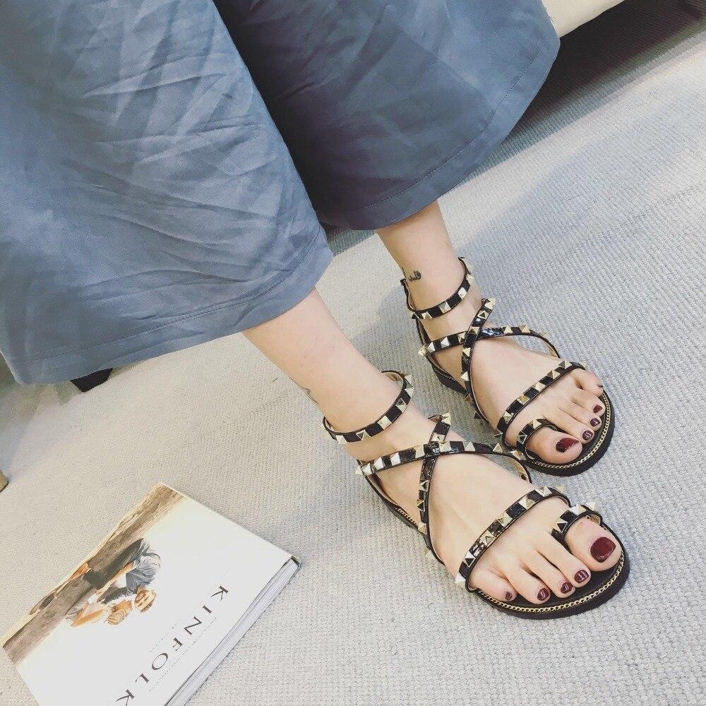ФОТО 2017 New Leather Sandals Female Fish Head High Heels Summer Sandals Women's Roman Shoes Sandalias Mujer Narrow-band Shoes Women