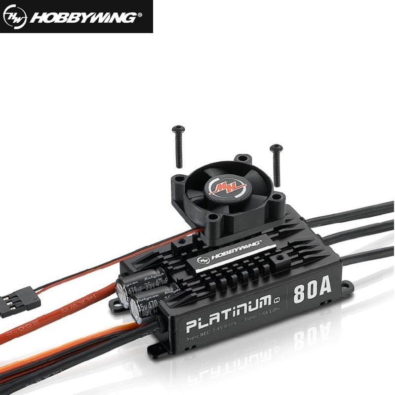 все цены на  1pcs Original Hobbywing Platinum Pro V4 80A 3-6S Lipo BEC Empty Mold Brushless ESC for RC Drone Aircraft Helicopter  онлайн
