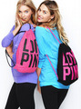 vs love pink bag backpack 3D printing travel softback man women harajuku drawstring bag