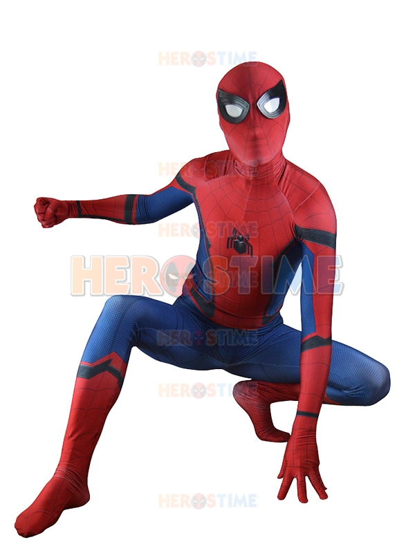 Homecoming Spiderman Cosplay Costume 3D Printed Halloween Zentai Suit Spider-Man Coser Bodysuit
