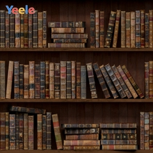 Yeele Library Old Wooden Bookshelf Books Study Child Portrait Photo Backgrounds Photography Backdrops Photocall Studio