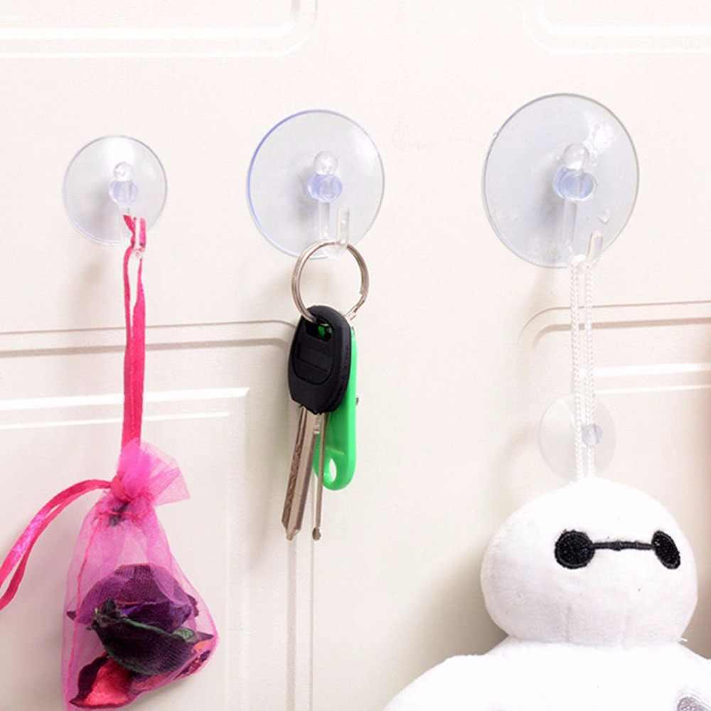 1 個 2.5/3/3.5/8 センチメートル透明な壁フックハンガーキッチンバスルームサクションカップ吸盤 Accessorie