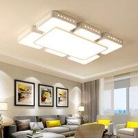 Минимализм простое искусство современные светодио дный светодиодные потолочные светильники для гостиной спальни домашнего внутреннего о