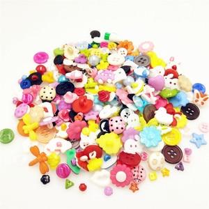 suoja 100PCS/lot Mix Shape Lots Colors DIY Scrapbooking Cartoon Buttons Plastic Buttons Children's Garment Sewing Notions