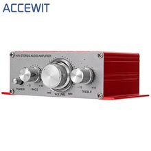 Accewit HY-2001 Hi-Fi Mini 증폭기 Audio 대 한 오토바이 Auto Car 홈 힘 증폭기 Stereo Sound Mode USB/MP3/ FM/DVD/SD(China)