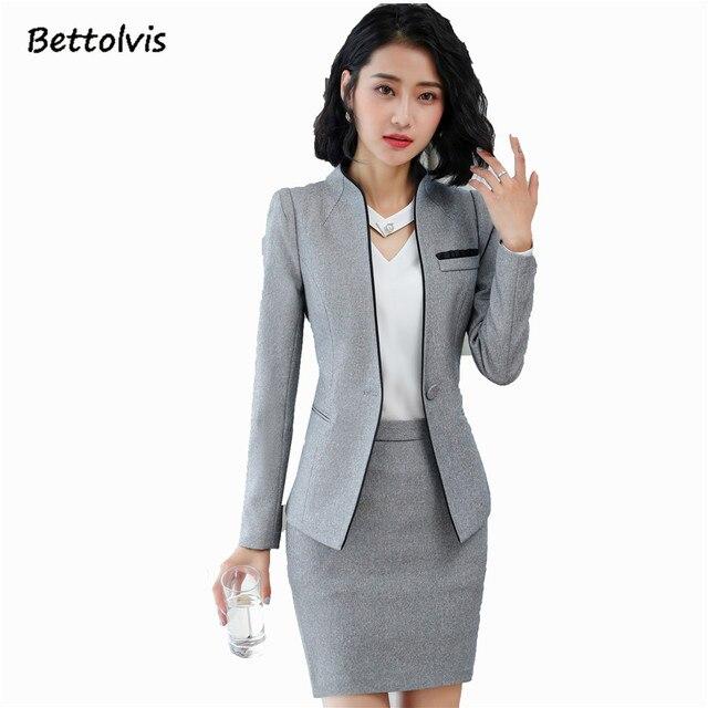 2018 arbeit tragen mode frauen kleidung dünne lange-sleeve blazer hosen  büro damen formale plus 1688988950