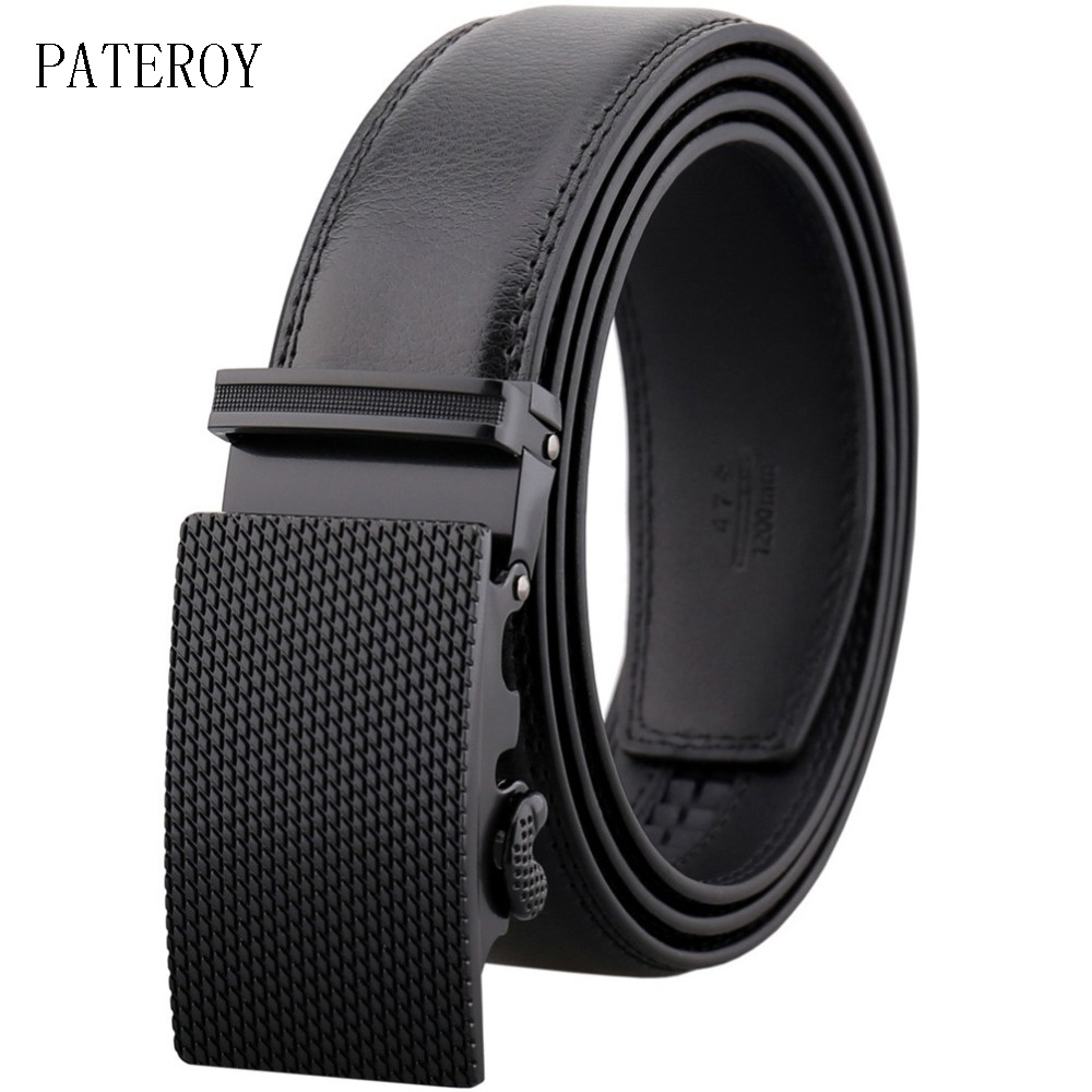 Men's automatic casual   belt   for jeans male luxury genuine leather no holes   belts   for men adjustable   belt   straps LY55-0031-1