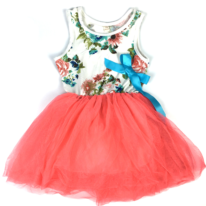 Baby Girl Dresses Casual Kids Flower Dress for Girls Princess Party Dress Candy Color Costumes Children Clothes girl dress kids clothes 2016 wl original lemon flower print a line baby girl dress children cotton princess dress girls costumes