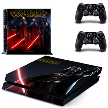 Skin Sticker Decal Cover Star Wars for Sony PS4 PlayStation 4 Console and 2 controller skins
