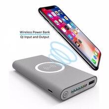 Универсальное портативное беспроводное зарядное устройство 8000 мАч/10000 мАч Qi Беспроводное зарядное устройство для iPhone8/X samsung S6 S7 S8 мобильный телефон