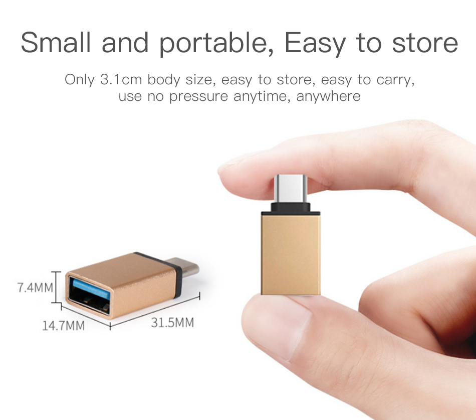 !ACCEZZ USB OTG Adapter Type C To USB Flash Converter For One Plus 5 For LG G5 G6 Xiaomi Mi 5 6 8 Samsung Galaxy S8 S9 Data Sync (6)