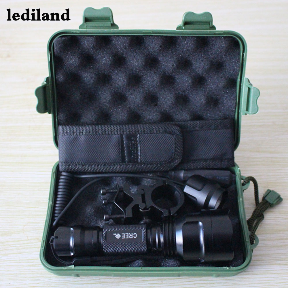 powerful Zoom bike lights Torch Lantern lamp XML-T6 5000LM Zoomable led tactical flashlight +Bike clip+ Pressure switch+Bag+Box tactical zoomable 5000lm xml t6 led flashlight torch hunting light lamp pressure switch battery