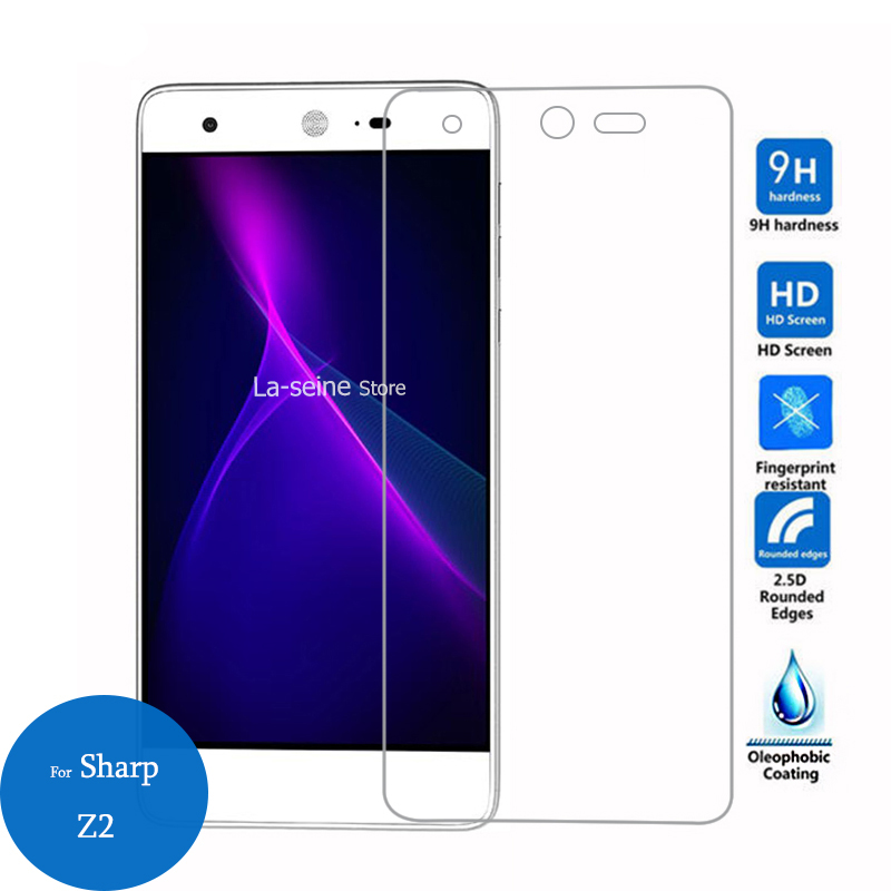 For Sharp Z2 Tempered Glass Screen Protector 2.5D 9h 0.26mm Front Safety Protective Film on SharpZ2 Z 2 Anti-explosion 5.5inch