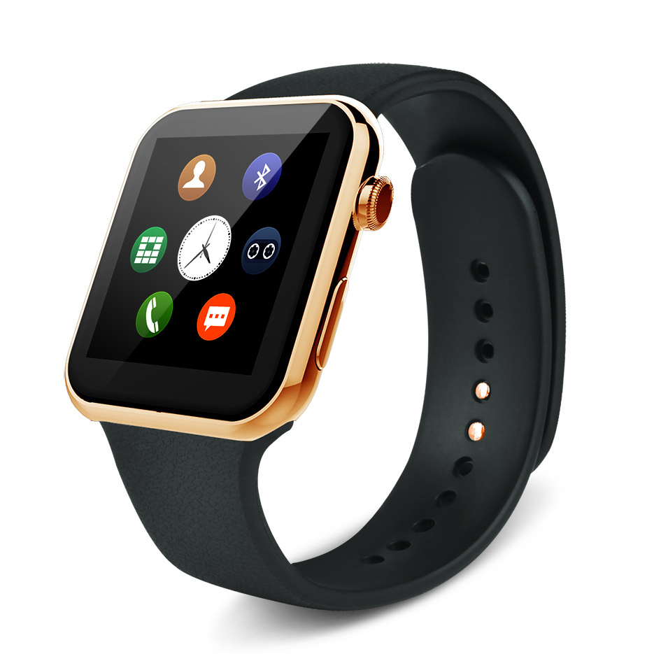 2016 New font b Smartwatch b font A9 Bluetooth Smart watch for Apple iPhone Samsung Android