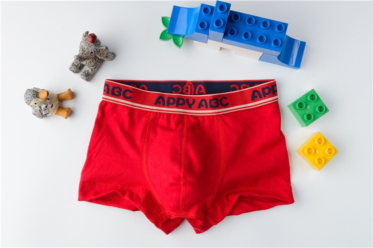 5pcs/lot Solid Color Boy Panties Cotton Children Breathable Underwears Boxer Panties For Boys Kids Shorts Pants 2020 New BU016
