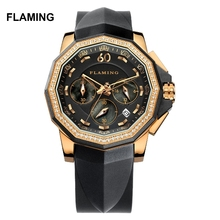 FLAMING FLAG Series High Quality 2 Models Miyota Quartz Watches Women Wristwatches Dress Watch Gifts