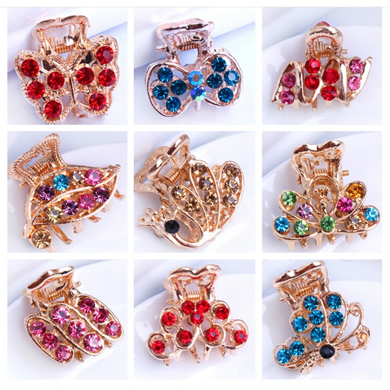 cute Retro Vintage Women Ladies Girls Crystal Butterfly Flower Hairpins Hair Clips The Cheapest Products Hair Accessories