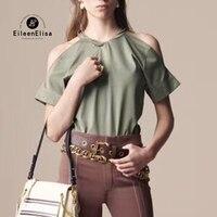 Модные летние футболки женские с коротким рукавом топы футболки Повседневная Женская футболка с открытыми плечами