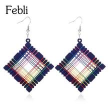 Здесь можно купить  Febli Originality Fashion Earrings Best Sellers Hollow Out Woodiness Different Color Earring