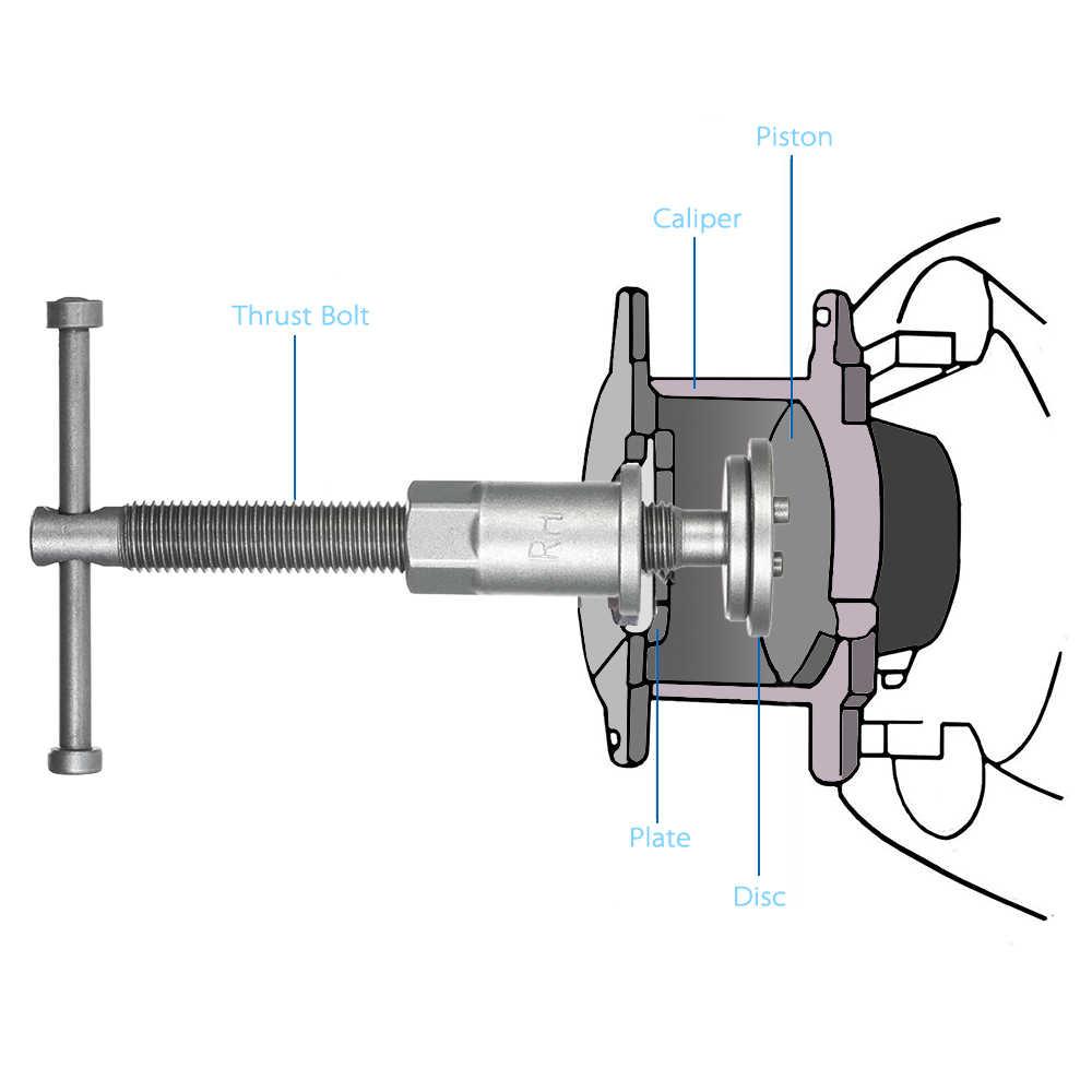 12 pièces Auto universel frein à disque étrier voiture vent arrière Pad Piston compresseur Automobile Garage réparation Kit d'outils ensemble avec étui