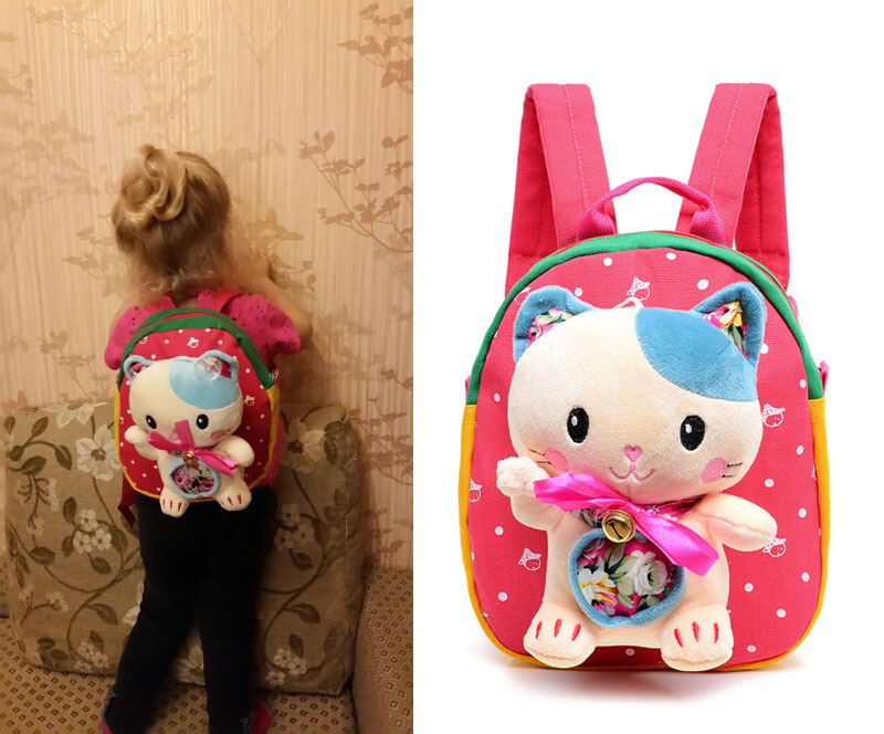 Hot Christmas Special Gift Children School Bags Cute Cartoon Monkey Bear Infant Backpacks For Baby Girl Kid Bags For Age 1-3 School Bags