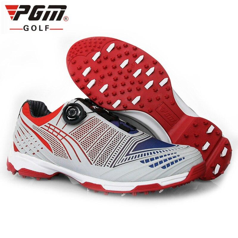 Chaussures de Golf PGM chaussures de Sport pour hommes chaussures de Golf bouton boucle lacet respirant confortableChaussures de Golf PGM chaussures de Sport pour hommes chaussures de Golf bouton boucle lacet respirant confortable