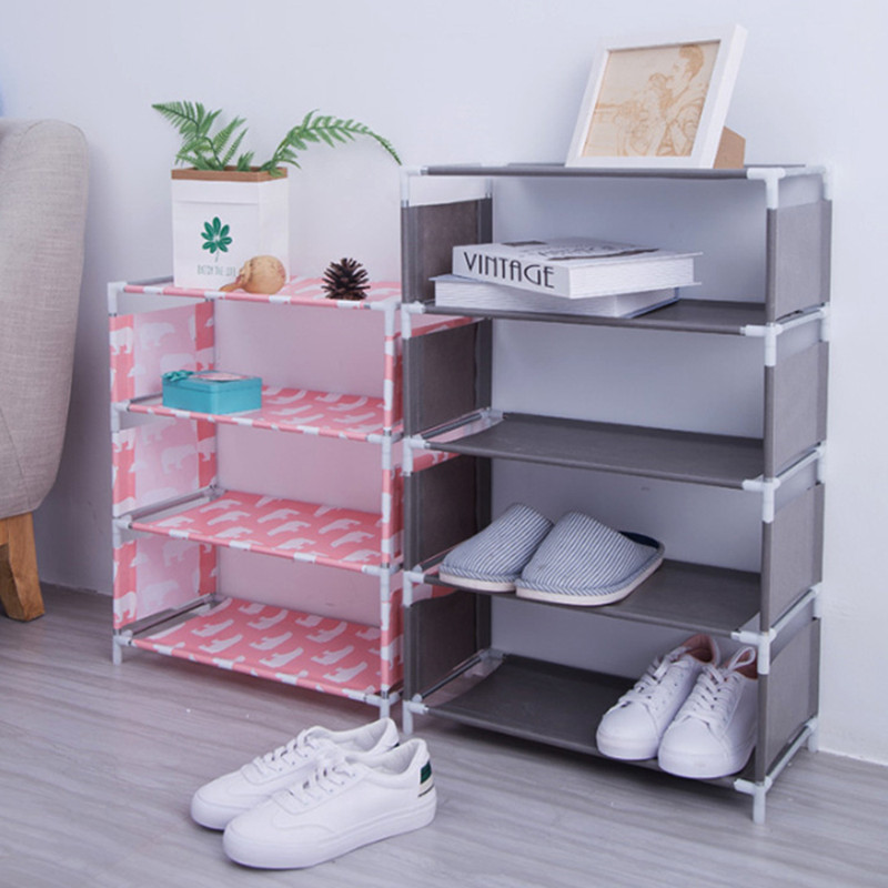 5 Layers Non-woven Shoe Rack Large Size Living Room Fabric Dustproof Cabinet Organizer Holder DIY Foldable Stand Shoes Shelf New