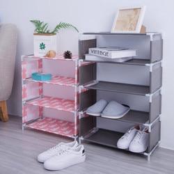 5 warstw włókniny stojak na buty duży rozmiar salon tkanina pyłoszczelna Organizer do szafki uchwyt DIY składany stojak półka na buty nowy w Półki i organizatory na buty od Dom i ogród na