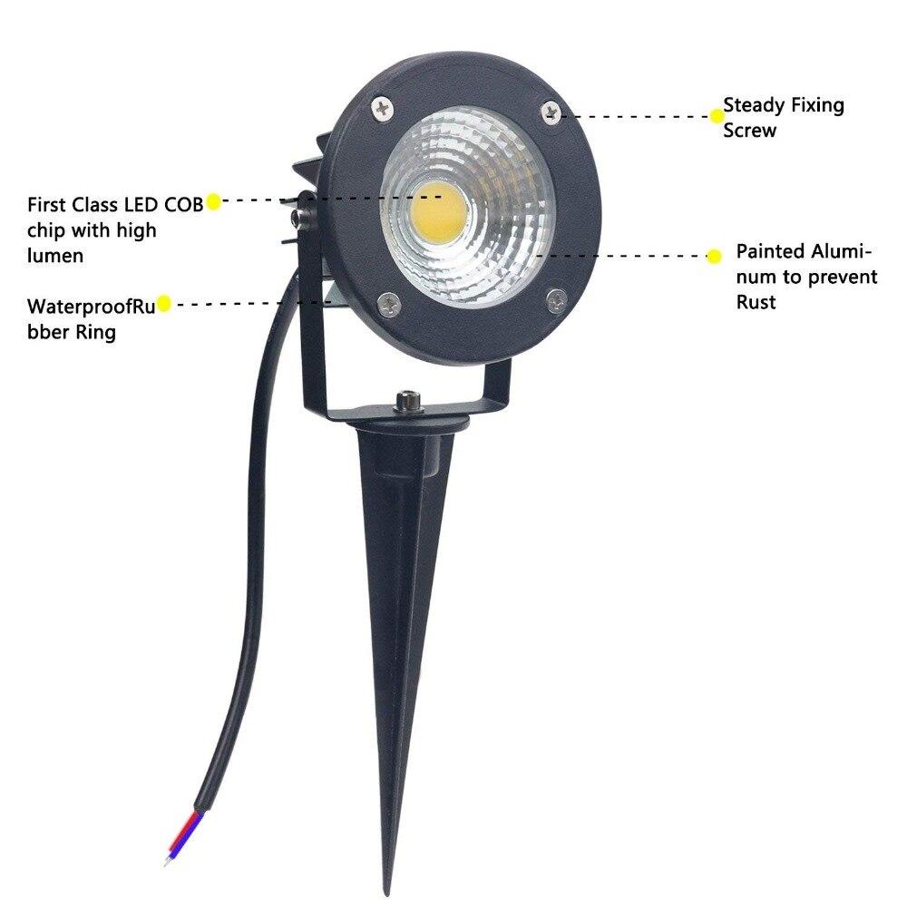 Luminária de led para gramado, lâmpada para
