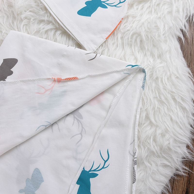 Mikrdoo-Baby-Warmer-Blanket-Kids-Boys-Girls-Knit-Hat-Toddler-Infant-Wrap-Sky-Blue-White-Clothes-Cotton-Deer-Print-Sleeping-Bag-4