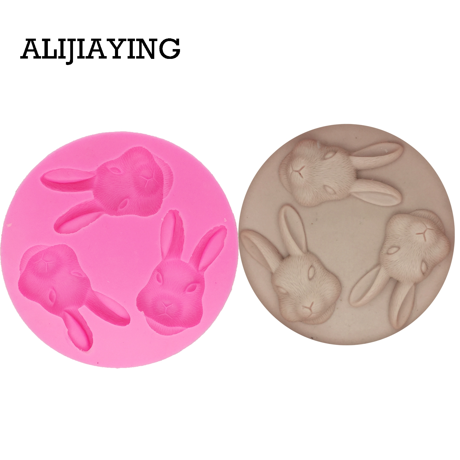 DY0008 Easter bunny Silicone Mold chocolate <font><b>Fondant</b></font> Molds rabbit <font><b>Cake</b></font> <font><b>Decorating</b></font> <font><b>Tools</b></font> modelling Kitchen Baking <font><b>Accessories</b></font> image