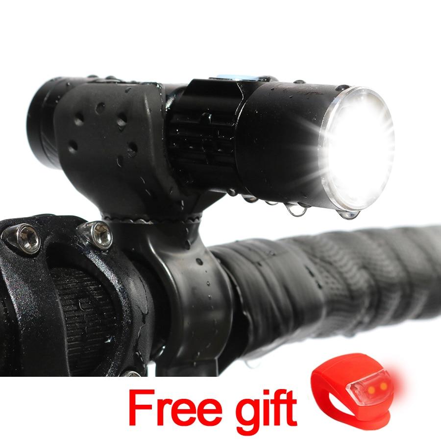 NEWBOLER USB Rechargeable Bicycle Light 2000 Lumen MTB Bike Zoom Flashlight Waterproof Built-in Battery Accessorie