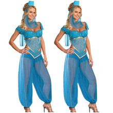 S-XXL Blue Sexy Women Halloween Cosplay Party Wedding Belly Dancer Aladdin Princess  sc 1 st  AliExpress.com & Buy jasmine costume and get free shipping on AliExpress.com