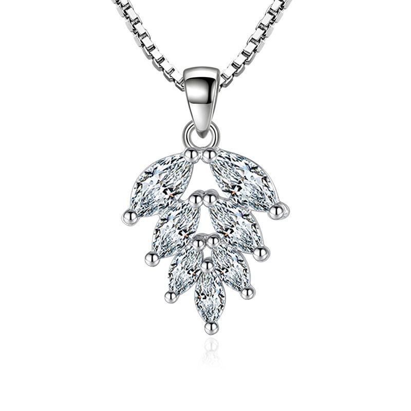 silver zircon pendants necklaces (1)